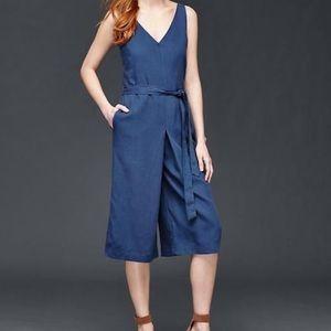 GAP - Linen blend Wide Leg Culotte Jumpsuit